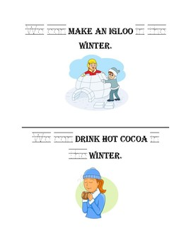 What Can We Do in Winter - emergent reader