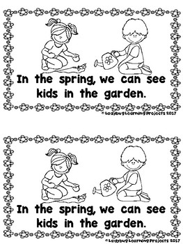 What Can We See in the Spring?  (An Emergent Reader and Teacher Lap Book)