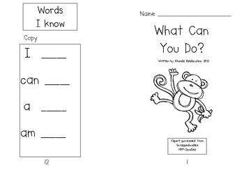What Can You Do? Emergent Reader