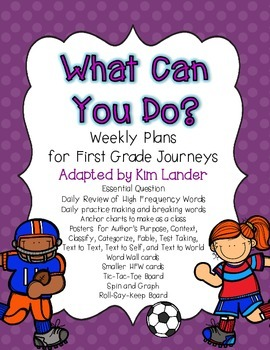 What Can You Do Journeys Lesson Plans and Supplemental Materials