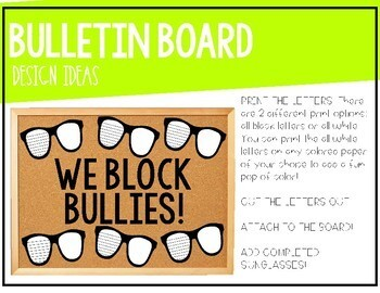 """What Can You Do When You SEE Bullying"" Anti-Bullying Activity & Bulletin Board!"