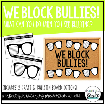 """""""What Can You Do When You SEE Bullying"""" Anti-Bullying Activity"""