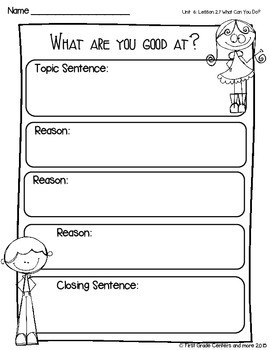 What Can You Do? aligned with Journeys First Grade Unit 6 Lesson 27