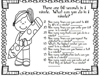 What Can You Do in a Minute?