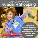 What Can You Find? Game - Grocery Shopping Checklist