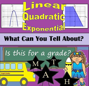 What Can You Tell Me About.....linear, quadratic, exponential functions