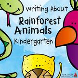 Writing About Rainforest Animals Kindergarten