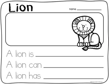 Writing About Zoo Animals Kindergarten