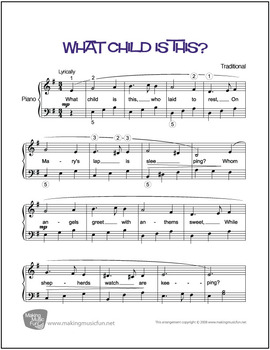 What Child Is This? | Sheet Music for Piano Solo (Digital Print)