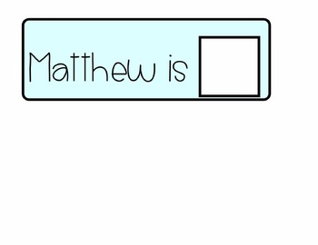 What Chore is Matthew Doing?- Adapted Book for Students with Special Needs