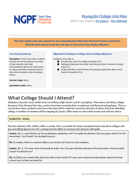 Personal Finance Case Study: What College Should I Attend?