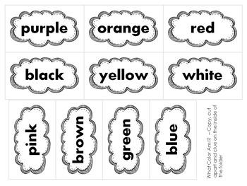 What Color Am I? • Reading Color Words • File Folder Game