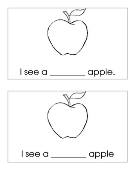 What Color Apple Do You See? A fill in the blank reader for kindergarten.
