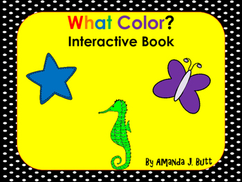 What Color Questions Interactive Book; Special Education;