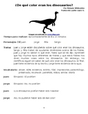 What Color Were The Dinosaurs - All About Fossils - Spanish Reader's Theater