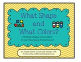 What Color and What Shape?- Adapted Book for Students with Special Needs
