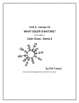 Color Word Recognition - Game 2 WHAT COLOR IS NATURE?