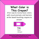 What Color is this Crayon?  Identifying color names Promet