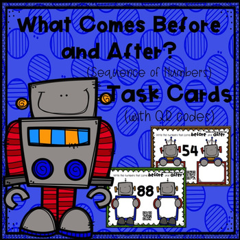What Comes Before and After? (Sequence of Numbers) Task Cards