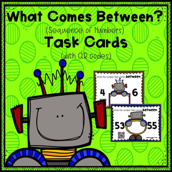 What Comes Between? (Sequence of Numbers) Task Cards