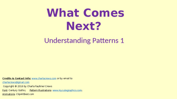 What Comes Next 1 (Recognizing Simple Patterns)