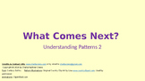 What Comes Next 2 (Recognizing Simple Patterns)