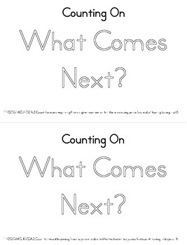 What Comes Next? Counting On Math Booklet