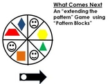 What Comes Next (Extend a Pattern Math Game) with pattern blocks
