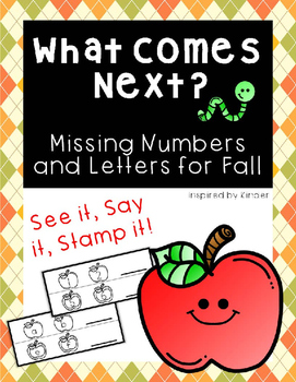 Stamping Center for Fall (Missing Letters and Numbers)