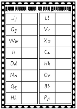 What Comes Next in the Alphabet?