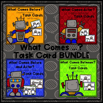 What Comes ...? (Sequence of Numbers) Task Cards BUNDLE