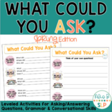 What Could You Ask - Spring Edition (Practice Formulating On-Topic Questions)