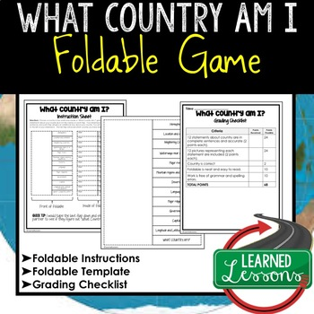 What Country Am I Foldable Game