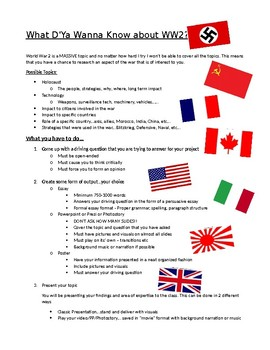 What D'Ya Wanna Know about WWII Project?