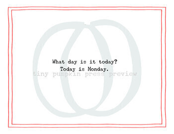 What Day is it Today? Editable Book Template