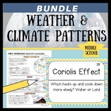 Weather and Climate Patterns Sketch Notes, Quiz, & Game Bundle