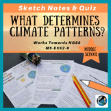 Weather and Climate Patterns Sketch Notes, Quiz, & PPT