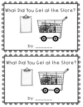 What Did You Get at the Store?  emergent reader