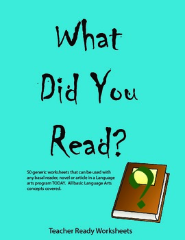 What Did You Read?