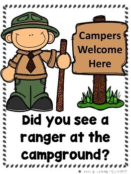 What Did You See at the Campground?  (Emergent Reader and Teacher Lap Book)