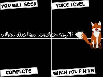 What Did the Teacher Say?!?