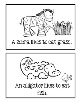 What Do Animals Like To Eat? - Informational Text Easy Reader