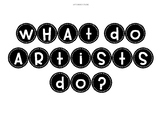 What Do Artists Do? Classroom Display Lettering: TAB Art Room Organisation