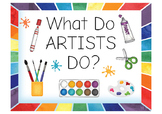 What Do Artists Do?  Signs about ARTISTS and how an artist works.