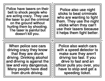 What Do Cops Do Picture Match Story (DRA Level 12-18) 16 Cards