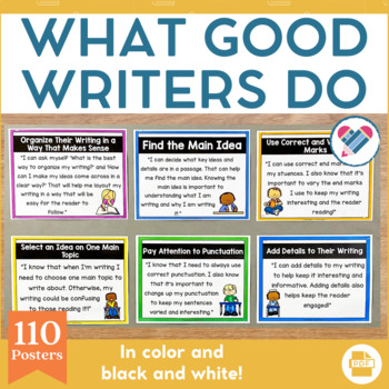 What Do Good Writers Do Posters and Handout Set