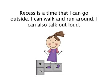 Social Story - What Do I Do At Recess