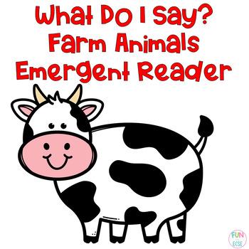 What Do I Say Farm Animal Freebie