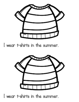 What Do I Wear: In the Summer- Emergent Reader