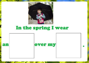 What Do I Wear in Winter, Spring, Summer Adapted Books Packet